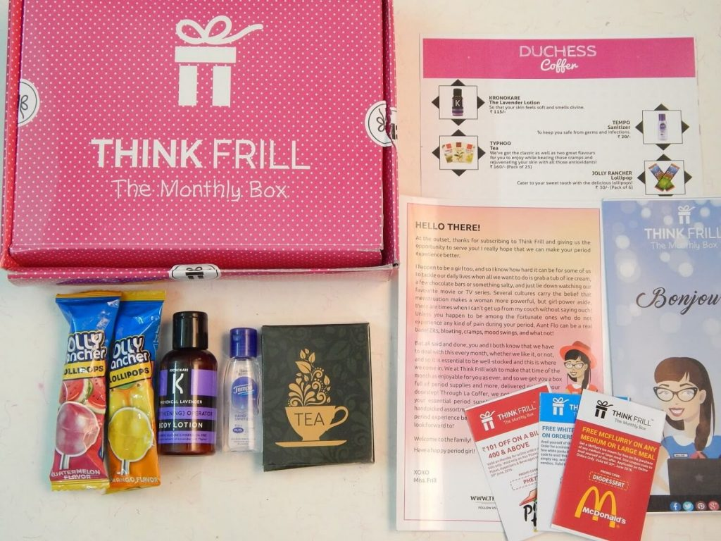 Thinkfrill's La Coffer subscription box: Review