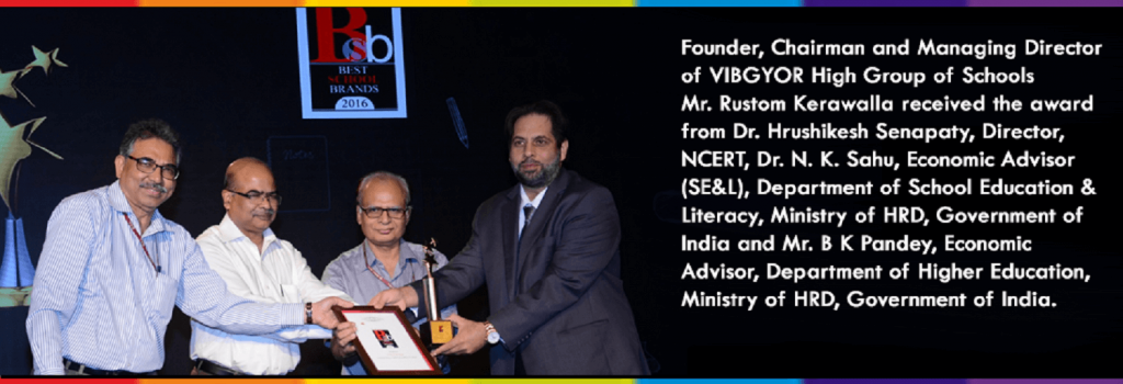 VIBGYOR High recognised as a 'Symbol of Excellence in School' at the Economic Times Best School Brands 2016