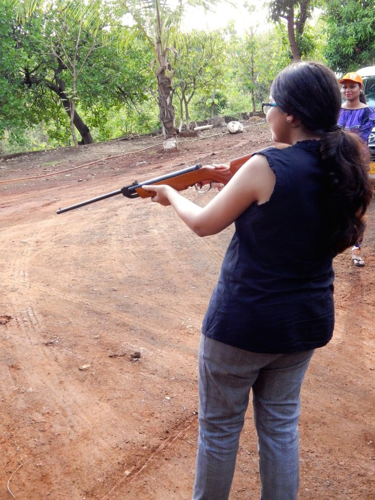 Rifle shooting, farm stay, farm stay Mumbai, Weekend getaway, Attari farm, farm stay Mumbai, Karjat, Monsoon getaway