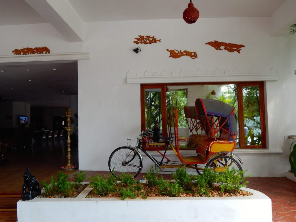 Cycle rickshaw at Chariot beach resort