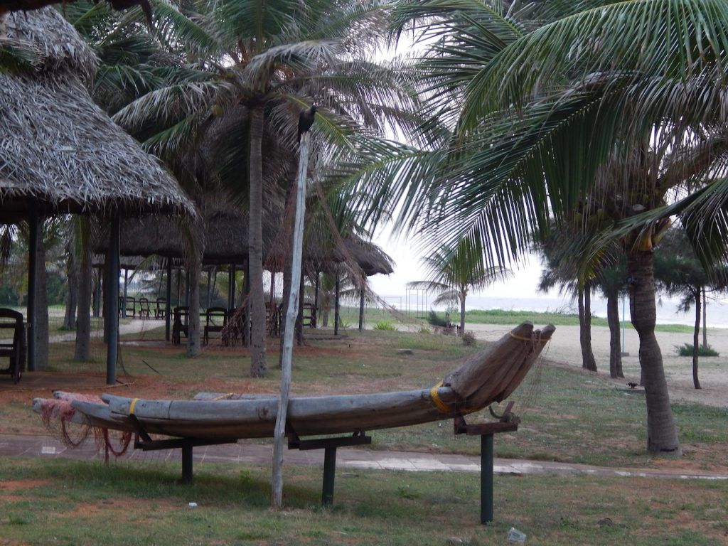A replica of the original catamarans that existed at Mahabalipuram