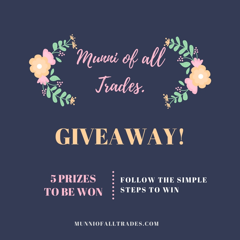 Munni of all Trades Giveaway!