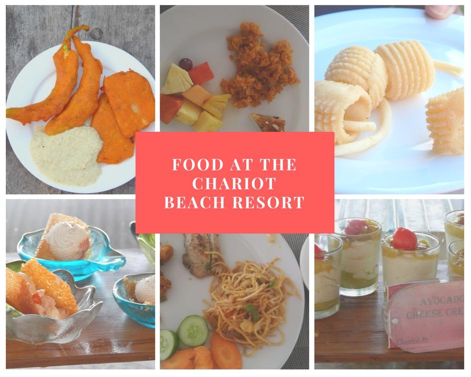 Food at Chariot Beach Resort