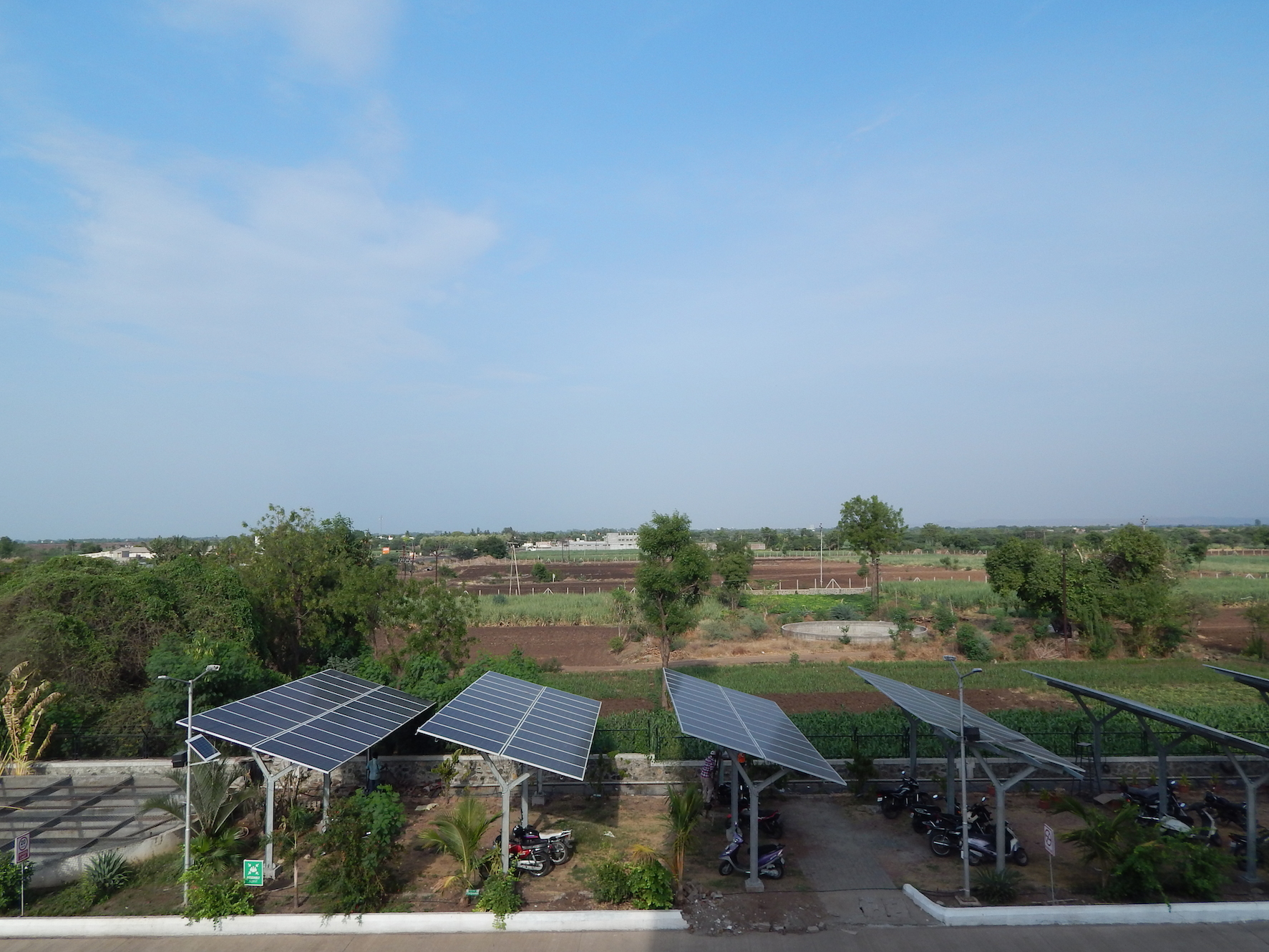 Solar Panels at Jakson Inns Phaltan