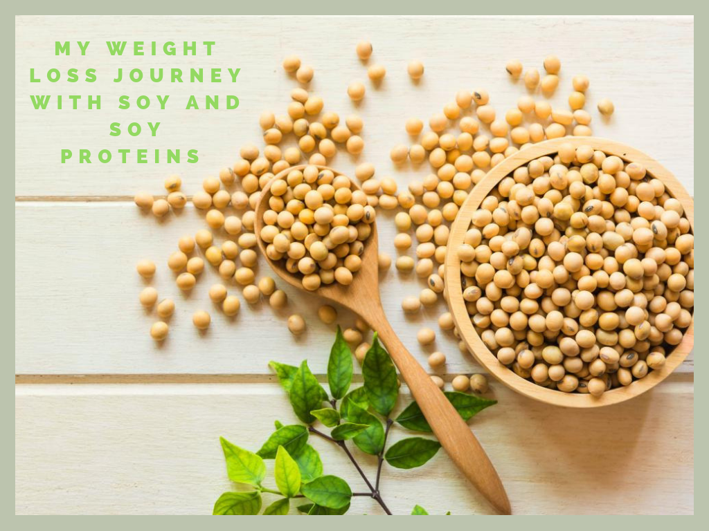 Weight loss with soy proteins