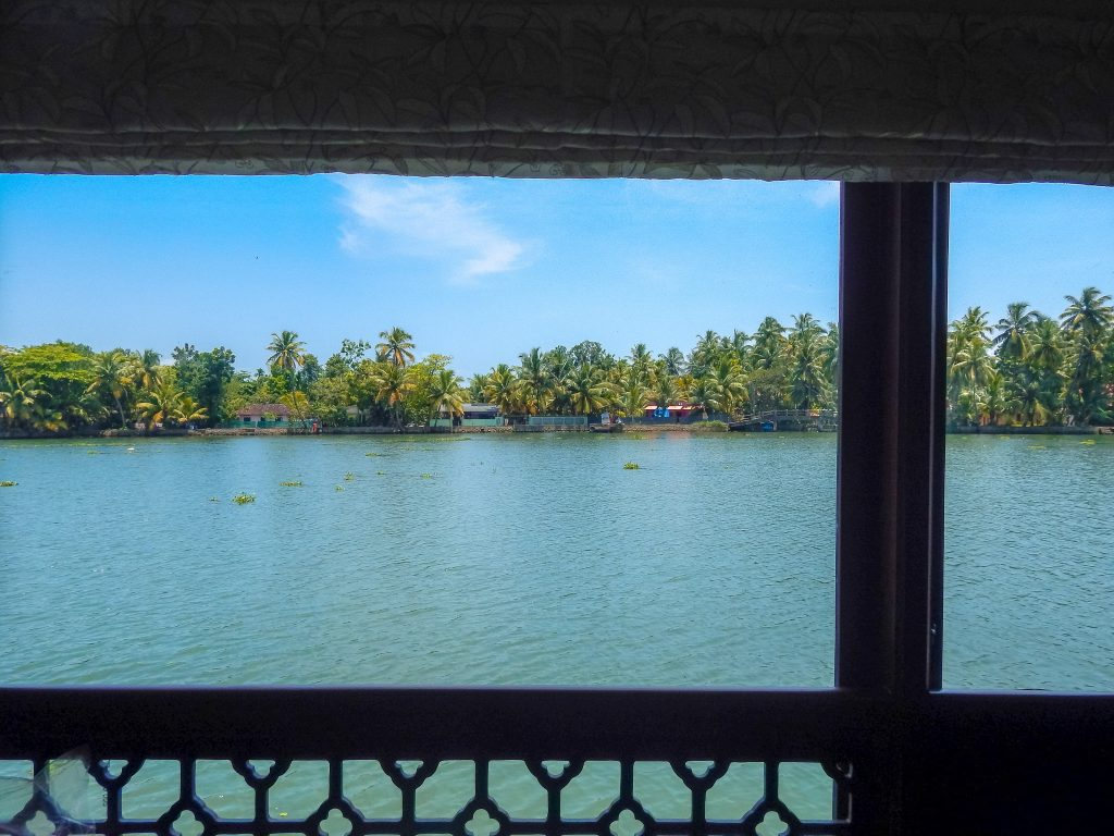 View from house boat Kerala