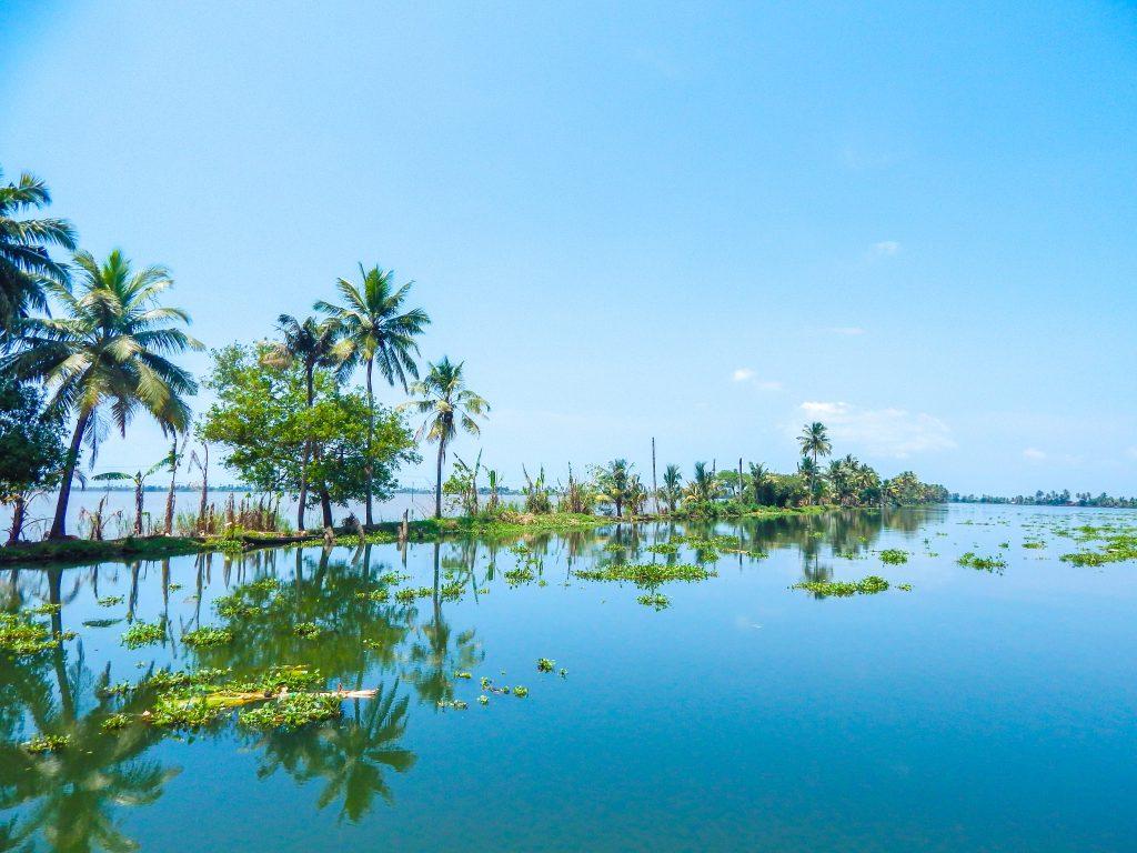 Sailing on a Kerala Houseboat Lake Vembanad