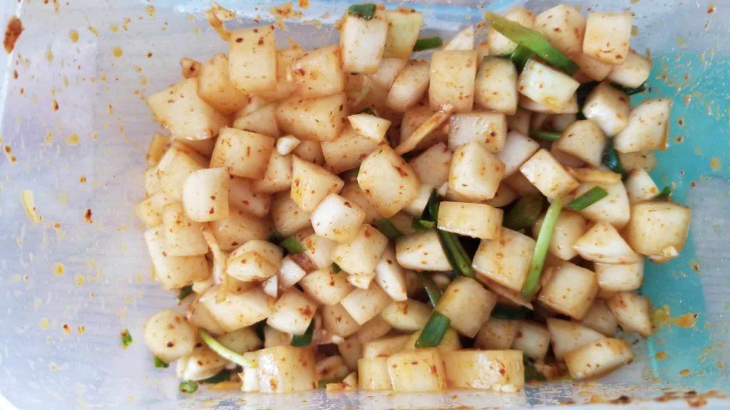 Daikon Kimchi from Korea recipe